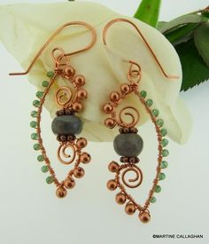 (5) Name: 'Jewelry : Arabesque Wire Earrings
