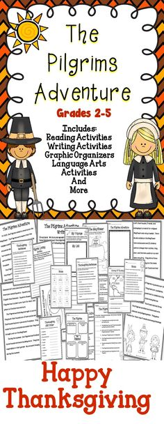 The Pilgrims Adventure - A great collection of Thanksgiving activities for the classroom! #tpt #thanksgiving #literacy