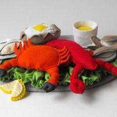 felt food patterns | Seafood Platter Felt Food Pattern PDF | GulfCoastCottage - Handmade ...