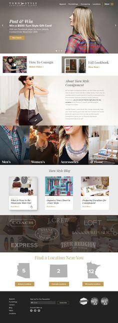 Turn Style #Consignment Stores | #website #webdesign #rocket55designs #rocket55 #digital #mpls #mn