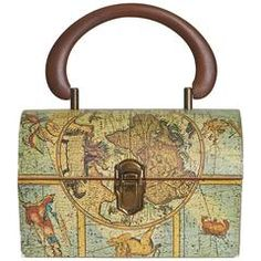 1970's Map Print Lunchbox Bag