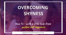 How can you overcome shyness with the help of self hypnosis?  Overcoming #shyness can seem almost impossible if you don't understand the nature of shyness. Shyness is a manifestation of being self-conscious, insecure and awkward in social situations, often leading to #socialanxiety or #socialphobia  Hypnosis is very effective at addressing your inner thoughts about yourself.  Click below to read more about you how #selfhypnosis can help you…