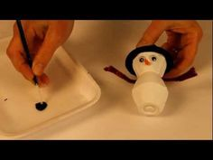 Bricolage d'hiver: bonhomme de neige animassiettes.com / Winter craft : snowman /  Sneeuwman knutselen animaplates.com
