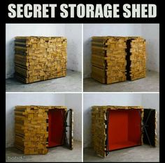 Secret hidden storage shed