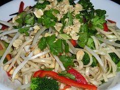 Low salt Asian noodle dish, yum!
