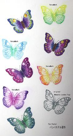 "Pan Pastel ""Butterfly"" , Versa Mark & Memento"