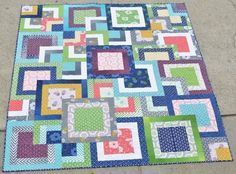 Quilting Patterns and Tutorials: Simply Style Stacked Squares Quilt (Tutorial)                                                                                                                                                     Más