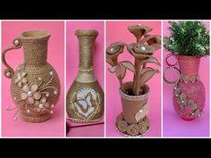 Best DIY Craft Ideas With Jute & Cardboard Jute Craft Ideas - Free Online Videos Best Movies TV shows - Faceclips Flower Vase Making, Flower Vases, Flower Pots, Diy Flower, Basket Crafts, Burlap Crafts, Diy Crafts, Jute Flowers, Craft Free