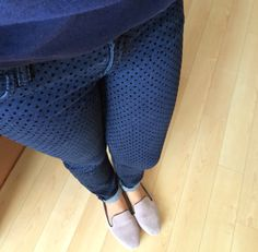 Polka dot jeans. I must have these!I've learned I need to size down for the brand though. Kut from the Kloth Denna polka dot skinny jeans stitch fix