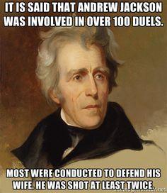 Andrew Jackson dueling.