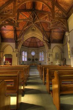 Portrait HDR of Morpeth Church's Interior  by madarchie0, via Flickr