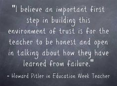 "The ""freedom to fail"" creates a positive learning environment. Learn how to make this work in your classroom with tips from Howard Pitler and other educators."