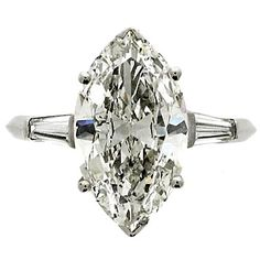 Magnificent Boucheron Marquise Cut Diamond Ring Circa 1950 | 1stdibs