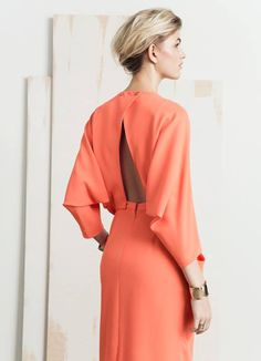 FASHION FRIDAY: CORAL DRESS FROM &OTHER STORIES | THE STYLE FILES