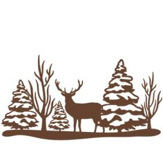 Reindeer Winter Scene: Miss Kate Cuttables-- SVG scrapbook cut file cute clipart files for silhouette cricut pazzles free svgs free svg cuts cute cut files