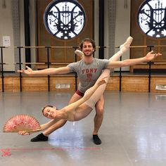 Isabella Boylston rehearsing Don Quixote at the Paris Opera Ballet