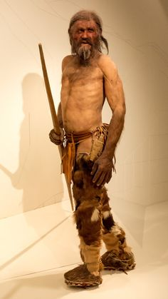 Naturalistic reconstruction of Ötzi (the Icemam)- South Tyrol Museum of Archaeology