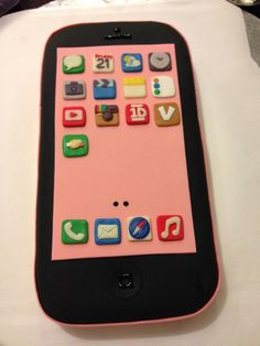 iPhone 5c cake... my daughter loved it! I made it for her birthday, when we gave her real iPhone as a gift :)