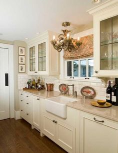 Cream kitchen cabinets ideas kitchen cream cabinet country kitchen design pictures remodel decor and ideas page . Cream Kitchen Cabinets, Kitchen Redo, Home Decor Kitchen, Interior Design Kitchen, New Kitchen, Home Kitchens, Glass Cabinets, Dark Cabinets, Kitchen Ideas