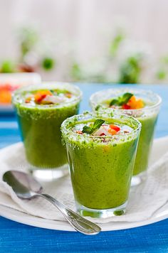 Cucumber Gazpacho with Wasabi  (Mother's Day Brunch) #shopfesta #fingerfood