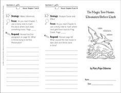 The Magic Tree House: Dinosaurs Before Dark (Level M): Reading Response Trifold for Grades 2-3