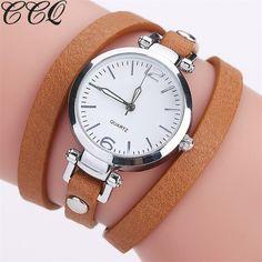 CCQ Brand New PU Leather Bracelet Watch Fashion Ladies QuartzWatch Casual Women WristWatch Relogio Feminino 2116