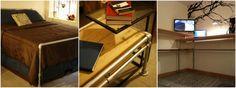 Industrial Apartment Upgrade - Pipe Furniture