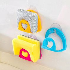 Brush Sponge Sink Soap Draining Towel Rack Suction Cup Base Kitchen Holder Tool Random Color Bathroom