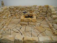 tapete steine steinoptik bruchsteine steintapete beige braun orange 05547 10 natursteine. Black Bedroom Furniture Sets. Home Design Ideas