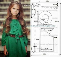 Trendy sewing patterns for baby clothes outfit ideas Baby Dress Patterns, Baby Clothes Patterns, Sewing Patterns For Kids, Clothing Patterns, Frock Patterns, Fashion Kids, Girl Fashion, Old Dress, Little Girl Dresses