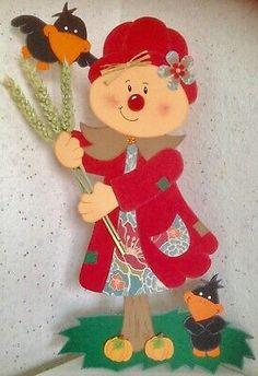 FENSTERBILD-TONKARTON/VOGELSCHEUCHE MIT RABEN/HERBSTDEKO. - EUR 12,99   PicClick DE Crow, Sad, Collage, Autumn, Christmas Ornaments, Retro, Holiday Decor, Home Decor, Dibujo