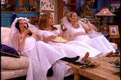 phoebe monica and rachel in wedding dresses - Pesquisa Google