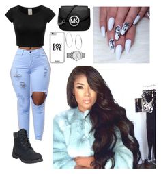 """""""Untitled #359"""" by queen-ayanna on Polyvore featuring Timberland, Michael Kors and Calvin Klein"""
