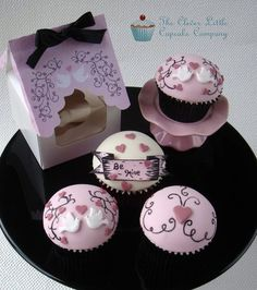 Parisian Style Valentines Cupcakes  Cake by CleverLittleCupcake