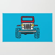 Reimagine the classic home decor essential: our Rugs feature one-of-a-kind designs printed on a subtle chevron weave. From understated styles to bold statements, find the perfect throw rug to accent any room.      - Available in three sizes   - Crafted with 100% woven polyester   - Subtle, durable chevron weave    - Machine washable   - Skid pad is included Jeep Drawing, Classic Home Decor, Red Rugs, Throw Rugs, Weave, Chevron, Printed, Drawings, Room