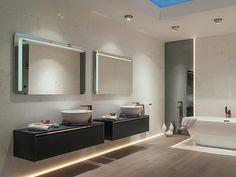 [GET THE LOOK] We reinterpret the classics: Lounge night blue bathroom furniture + Lounge copper bathroom taps + marble wall tiles Copper Bathroom, Bathroom Taps, Bathrooms, Bathroom Black, Small Bathroom Furniture, Blue Furniture, Wall Tiles, Marble Wall, Bathroom Trends