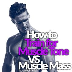 If you want to build muscle mass, use enough volume of lifts to induce a bit of damage. For muscle tone aim for fewer sets and reps to avoid damage.