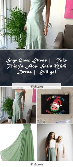 """""""Sage Green Dress, this is the subject of today... Hello my dainty follower. Our team have compiled these 4 Sage Green Dress ideas from 250+ unique ideas for you. While doing this, I paid attention to the fact that there are designs that can be viral in 2020 and many more. Please click on the 'Read More' button to see the rest of the content related to the Sage Green Dress topic and relat... Sage Green Dress, Satin Midi Dress, I Pay, Dress Ideas, Rest, Content, Button, Unique, Dresses"""