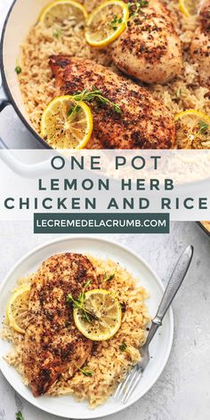 Clean Dinner Recipes, Dinner Recipes Easy Quick, Vegetarian Recipes Dinner, Entree Recipes, Healthy Eating Recipes, Cooking Recipes, Lemon Herb Chicken, Dinner Entrees, Chicken Rice