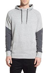 adidas Gray & Black Racing Stripe Accent Color Block Hoodie