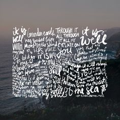 it is well - bethel - hand lettering by Kate Dommel