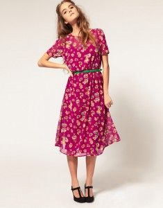 Trending 2014 - The Printed Midi Dress - Office to Cocktails Staple #Printed #Midi #Dress #Office #Cocktail #Fashion #Dress