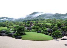 Bonsai garden in Japan Japanese Garden Plants, Japanese Rock Garden, Japan Garden, Japanese Garden Design, Japanese Gardens, Japanese Landscape, Organic Gardening, Gardening Tips, Adachi Museum Of Art