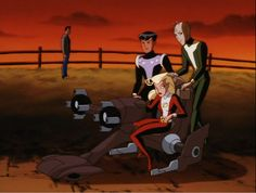 """Legionnaires star in """"New Kid in Town."""" From Superman: The Animated Series, season 3, episode 3 (1998)."""