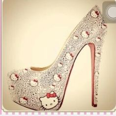 Hello Kitty crystal heel