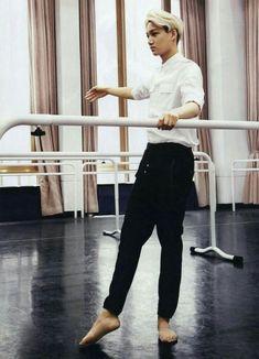 Kai doing ballet