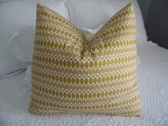 Pillow covers. Gold and milk white pillow covers, bedroom pillow cover. Product ID#P0041 by GamGamzhandcrafted on Etsy