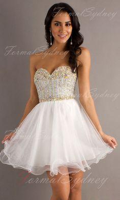 Organza A-line Sweetheart Short Formal Dresses FSAU1409P800959 - formalsydney.com