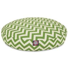 Zig Zag Round Pet Bed Size Small 30 W x 30 D Color Sage -- More info could be found at the image url.