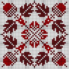 Autumn biscornu pattern